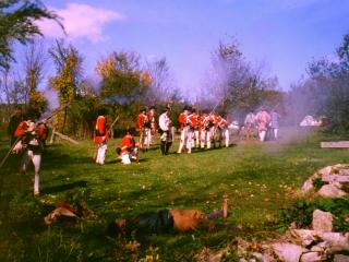 Redcoats attack