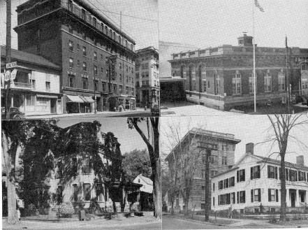 Upper Left Right Hotel Snyder United States Post Office Lower Little Falls Public Library Ymca And Wca Buildings