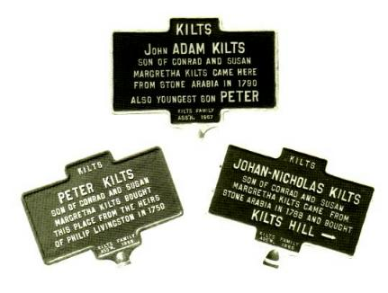 The Three Kilts Markers
